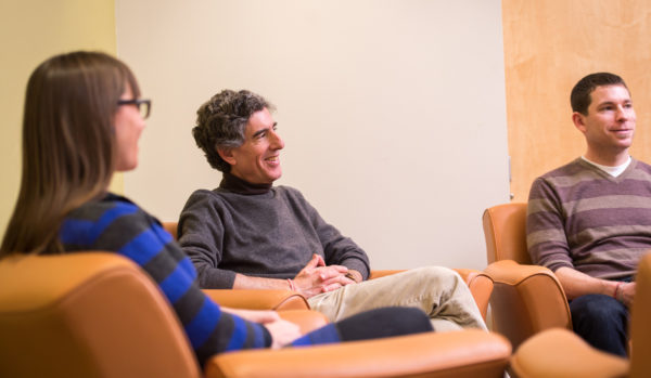 Richard Davidson meets with graduate students by David Nevala